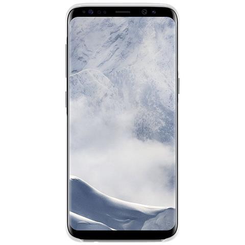 SAMSUNG Cover in TPU per Galaxy S8 Colore Argento e Trasparente