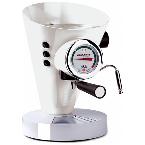 Macchina Caffé Espresso Manuale Diva Capacità Serbatoio 0,8 Litri Potenza 950 Watt Colore Bianco