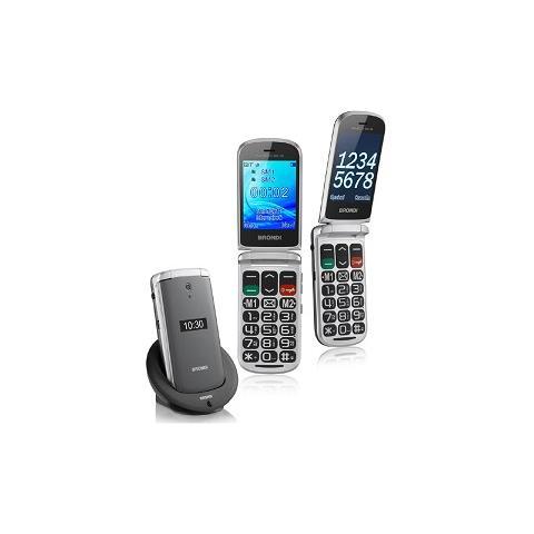 """BRONDI Amico Big + 3G Senior Phone Display 2.8"""" +Slot MicroSD Fotocamera 1.3Mpx - Italia RICONDIZIONATO"""