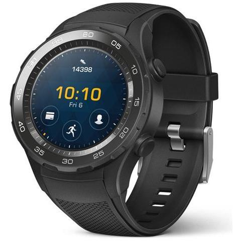 "HUAWEI Smartwatch Watch 2 Resistente all'acqua IP68 Display 1.2"" 4GB Bluetooth / Wi-Fi con NFC e GPS Nero - Italia"