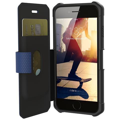 UAG Flip Cover Custodia per iPhone 8 / 7 / 6S Colore Blu e Nero