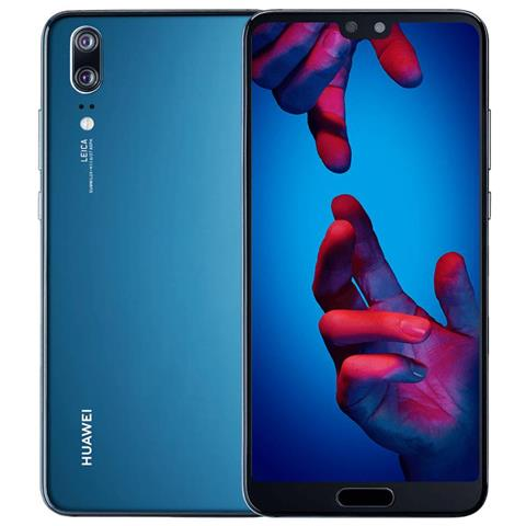 "HUAWEI P20 Blu 128 GB 4G / LTE Display 5.8"" Full HD+ Fotocamera 20 Mpx Android Tim Italia"