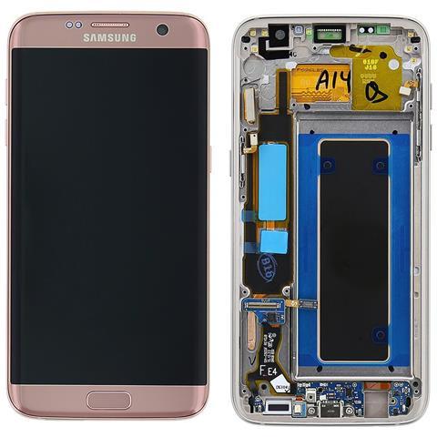 Image of Lcd Touch Display Schermo Originale Samsung Per Galaxy S7 Edge Sm-g935 Rose Gold