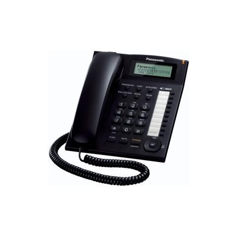 PANASONIC Telefono fisso a Filo con vivavoce colore Nero