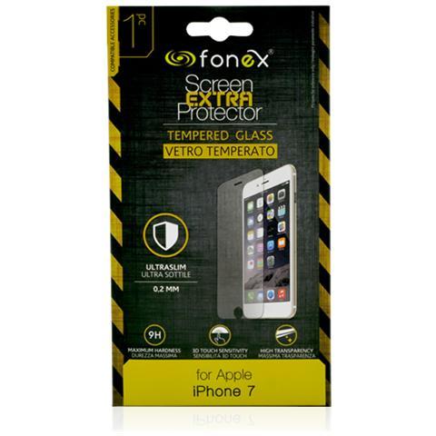 FONEX Protezione Schermo in Vetro Temperato Ultra Sottile 0,2 mm per Apple iPhone 6/6S / 7 (1Pz)