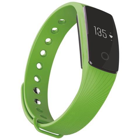 "Techmade Activity Tracker T-Fit Display 0.49"" Bluetooth con Cardiofrequenzimetro e Pedometro Verde – Italia"