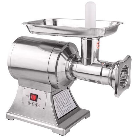 Tritacarne Professionale 750 Watt (1hp) Fino A 250kg / h. 2 Velocita' 193 E 225 Giri / min. 2 Dischi Forati Da 6 Mm E Da 8 Mm. 2 Lame In Dotazione
