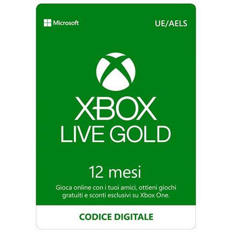 MICROSOFT Xbox Live Gold 12 mesi