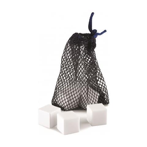 Set 6 Cubetti In Ceramica Raffredda Liquore Con Sacchetto Ghidini
