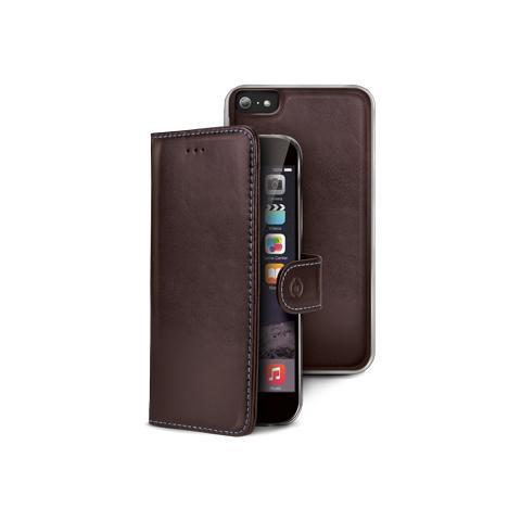 CELLY Custodia Ambo Pelle per iPhone 6 Plus - Pelle vera
