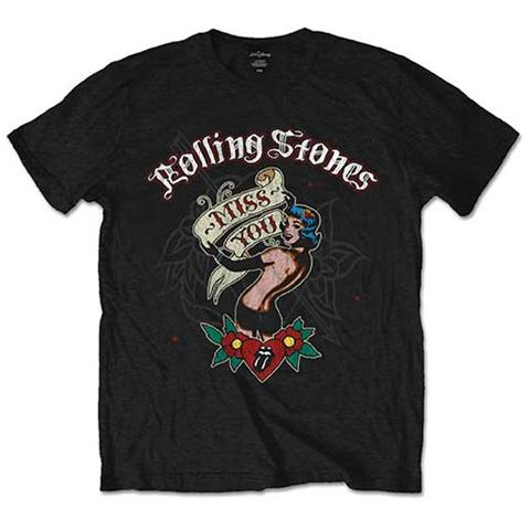 ROCK OFF Rolling Stones (The) - Miss You (T-Shirt Unisex Tg. S)