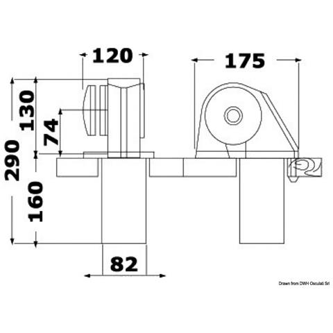 Verricello Italwinch Obi 500 W - 12 V Senza Campana - Barbotin 6 Mm