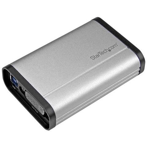 Image of Scheda Acquisizione Video USB 3.0 a DVI - 1080p 60fps - Alluminio - Dispositivo Cattura Video HD ad alte prestazioni