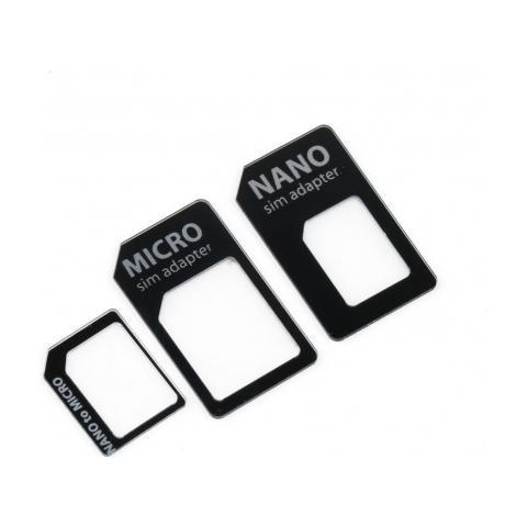 DIRtec Adattatore Convertitore Slim 4 In 1 Per Nano Micro Sim Smartphone Tablet