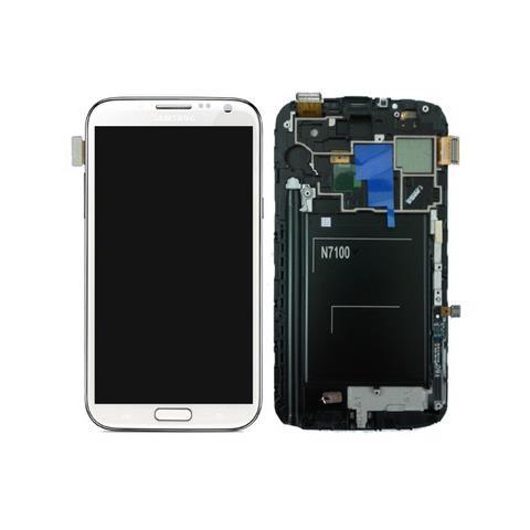 SAMSUNG Schermo LCD + Touchscreen di Ricambio per Smartphone Bianco GH97-14112A