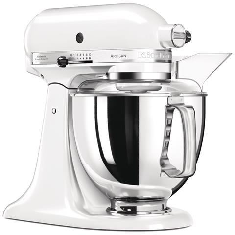 Image of 5KSM175PS Robot da Cucina Artisan 7 Accessori Inclusi Capacità 4,8 Litri Colore Bianco