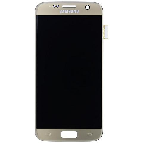 Image of Lcd Touch Display Schermo Gold Oro Originale Samsung Per Galaxy S7 Sm-g930 + Kit