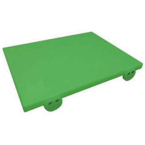 Tagliere In Polietilene 50x30 Con Fermi Verde