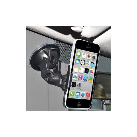 Amzer Suction Cup Mount, iPhone 5C, Telefono cellulare / smartphone, Auto, Nero