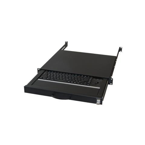 Image of AIX-19K1UKDETB-B, USB+PS / 2, QWERTZ, HTPC, Nero, Metallo, Plastica, Antipolvere, Antigraffio, Resistente agli urti