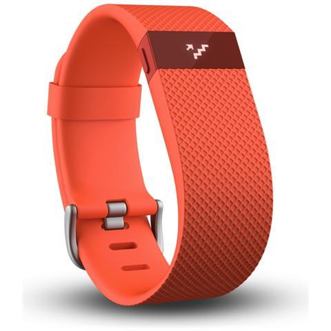 FITBIT Charge HR Arancione Braccialetto Wireless Battito Cardiaco + Attività - Large