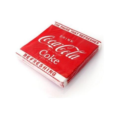 The Coca-Cola Company 100 Tovaglioli Da Tavola In 5 Confezioni Da 20 Pezzi Coca Cola Coke