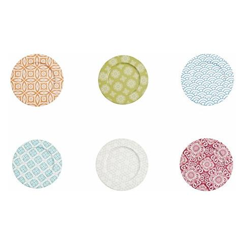 Etnochic Set 6 Sottopiatti, Alluminio, Multicolore, 6 Unità