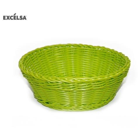 41235 Cestino Intreccio per Alimenti Diametro 20 cm Colore Verde
