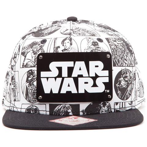 BIOWORLD Star Wars - Comic Style With Metal Plate Logo (Cappellino)