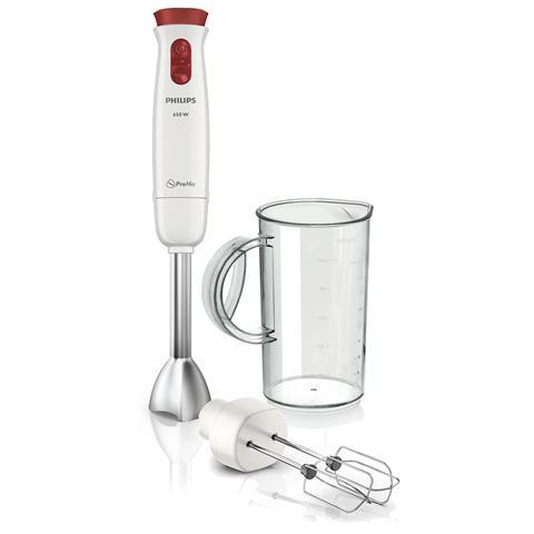 HR1626/00 Daily Collection Frullatore ad Immersione con Funzione Mixer Potenza 650 Watt Capacità 1.2 Litri Colore Bianco