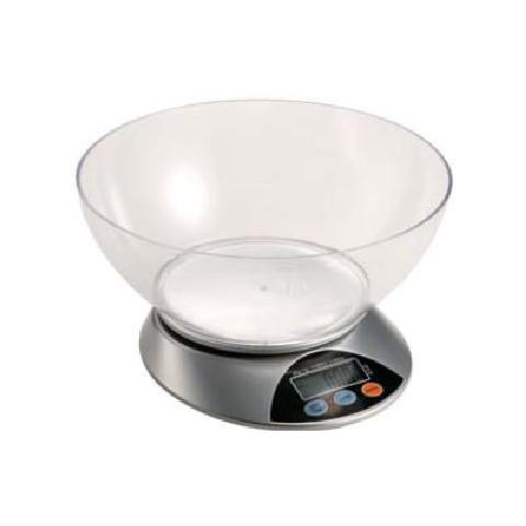 Bilancia Elettronica da Cucina Portata 5 Kg Colore Silver / Trasparente