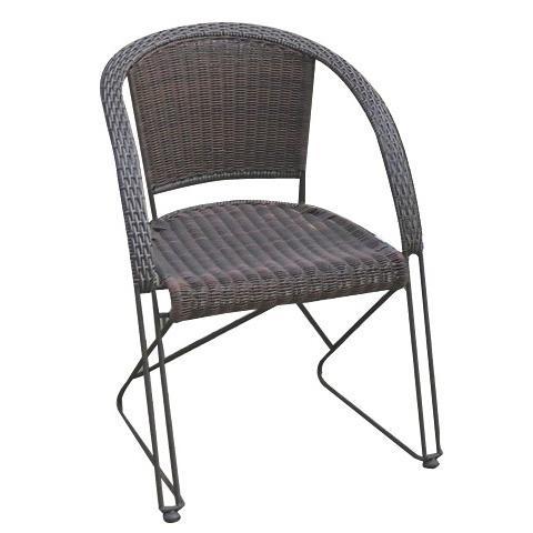 Sedia con Braccioli per Esterni Impilabile Salvaspazio 2 Pezzi - Modello Bistro 2 Pezzi