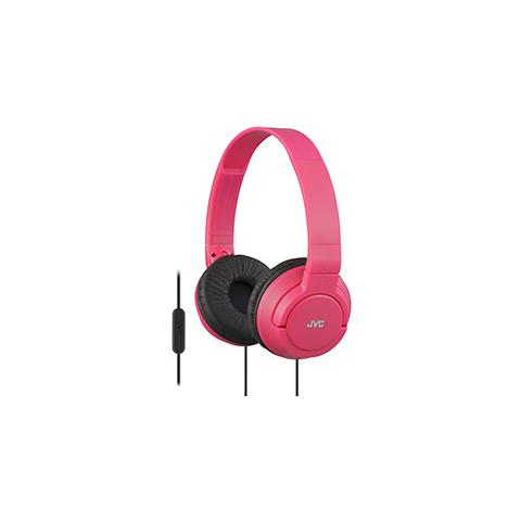 JVC SR-S180 Cuffie con Microfono e Telecomando Colore Rosa