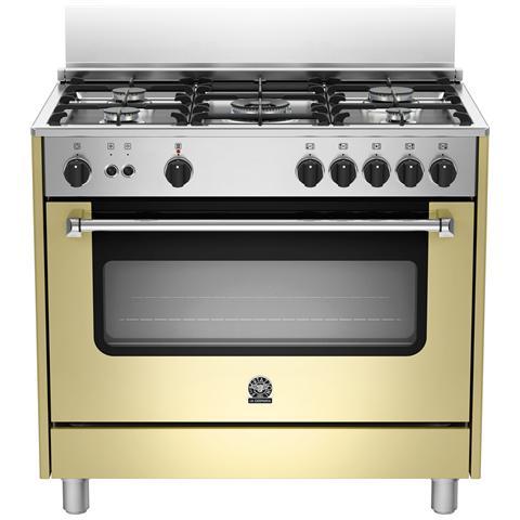 Bertazzoni la germania cucina a gas ams95c71ccr 5 fuochi a gas forno a gas dimensioni 90 x 60 - Cucine bertazzoni la germania ...