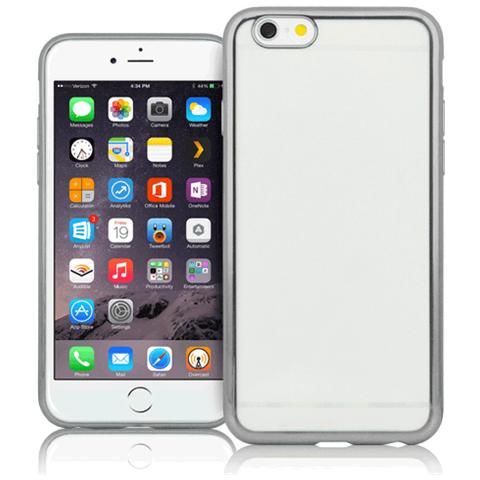 FONEX Cover Sparkling in TPU per iPhone 7 - Trasparente / Argento
