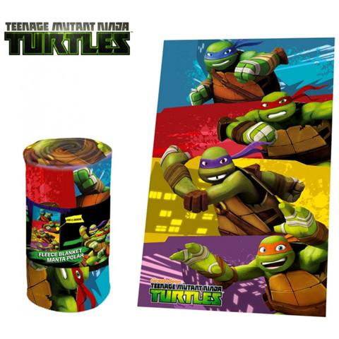 Tartarughe ninja Tn16004 Coperta Plaid Calda E Morbida Teenage Ninja Turtles 100x150 Cm Plaid