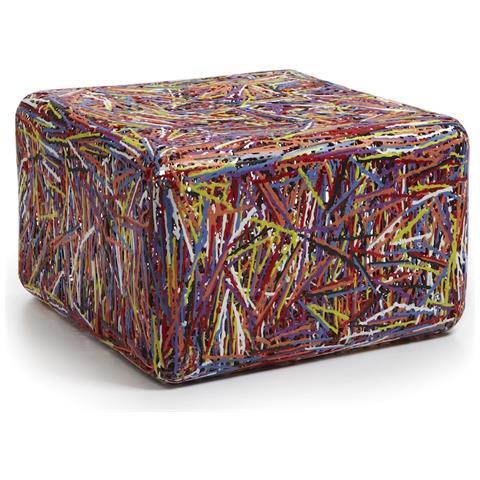 Emporium Puof Zoe Plastico Termofuso Multicolor Componenti D'arredo Design