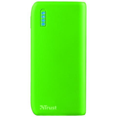 TRUST Primo Caricabatterie portatile con porta USB e batteria integrata da 4400 mAh - neon green