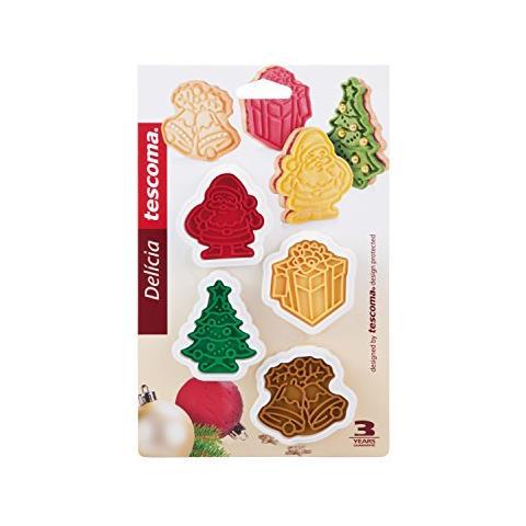 Timbro X Biscotti 6 Decori Natale Delicia