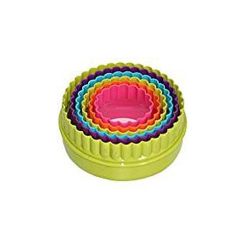 5 Tagliabiscotti Tondi Colorati Plastica