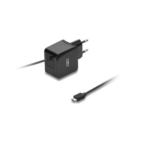 AIINO Samsung Wall Charger 2A w / built-in Micro USB cable Tablet - Black