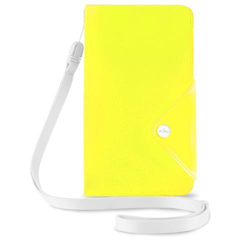 PURO Cust Resist Acqua Flip Oriz + 3 Vani Carta+necklace Smartphone 5.7'' Lime