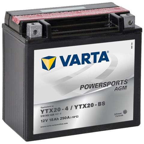 Batteria Agm 12 V 18 Ah Ytx20-4 / Ytx20-bs