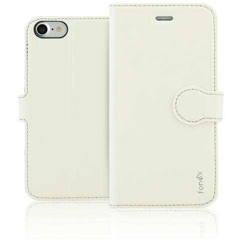 FONEX Identity Book Custodia a Libro per Apple iPhone 7 Colore Bianco