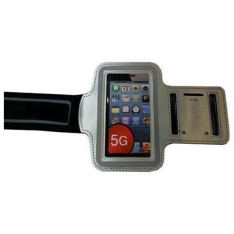 NetworkShop Custodia Fascia Da Braccio Sport Armband Silver Per Iphone 5