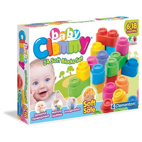 CLEMENTONI Baby Clemmy - Confezione 24 Mattoncini