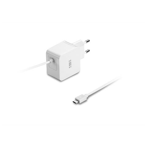 AIINO Samsung Wall Charger 2A w / built-in Micro USB cable Tablet - White
