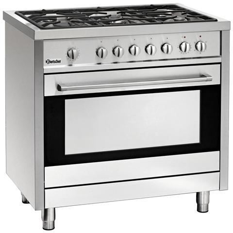 1509851 Piano cottura a gas 5 fuochi con forno elettrico 105 litri