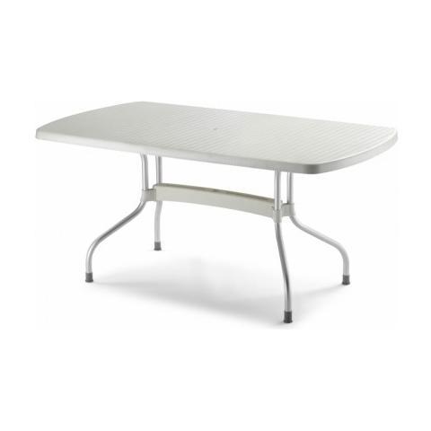 Tavolo Olimpo 160x90 Con Piano Ribaltabile In Polipropilene E Gambe In Alluminio