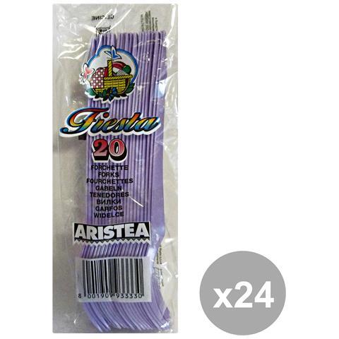 GNP Set 24 Forchette Colorato 20 Pezzi Glicine Art. 793333 Posate